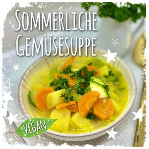 Sommerliche Gemüsesuppe