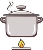 Auf geringer Flamme kochen