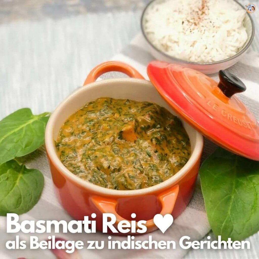 Basmati Reis als Beilage
