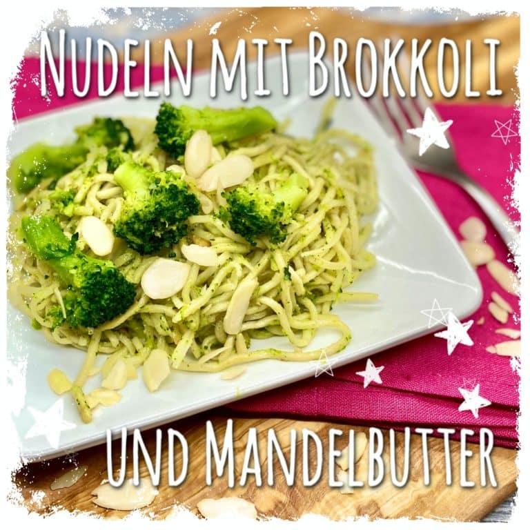 Nudeln mit Brokkoli und Mandelbutter