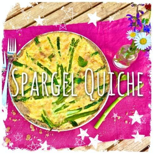 Spargel Quiche mit Käse Sahnesoße