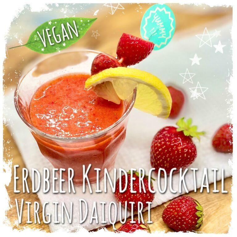 Erdbeer Kindercocktail Virgin Erdbeer Daiquiri