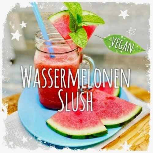 Erfrischender Wassermelonen Slush mit Minze