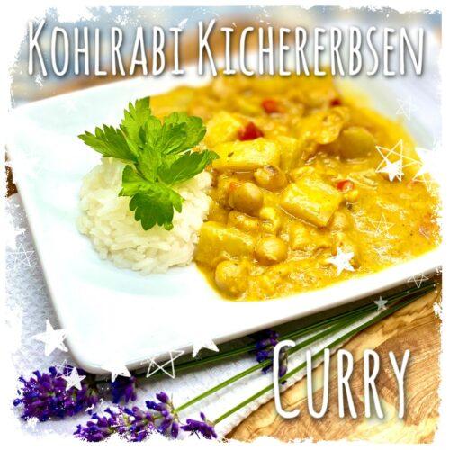 Kohlrabi Kichererbsen Korma Curry