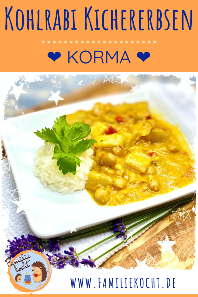 Kohlrabi Kichererbsen Korma Curry Pin