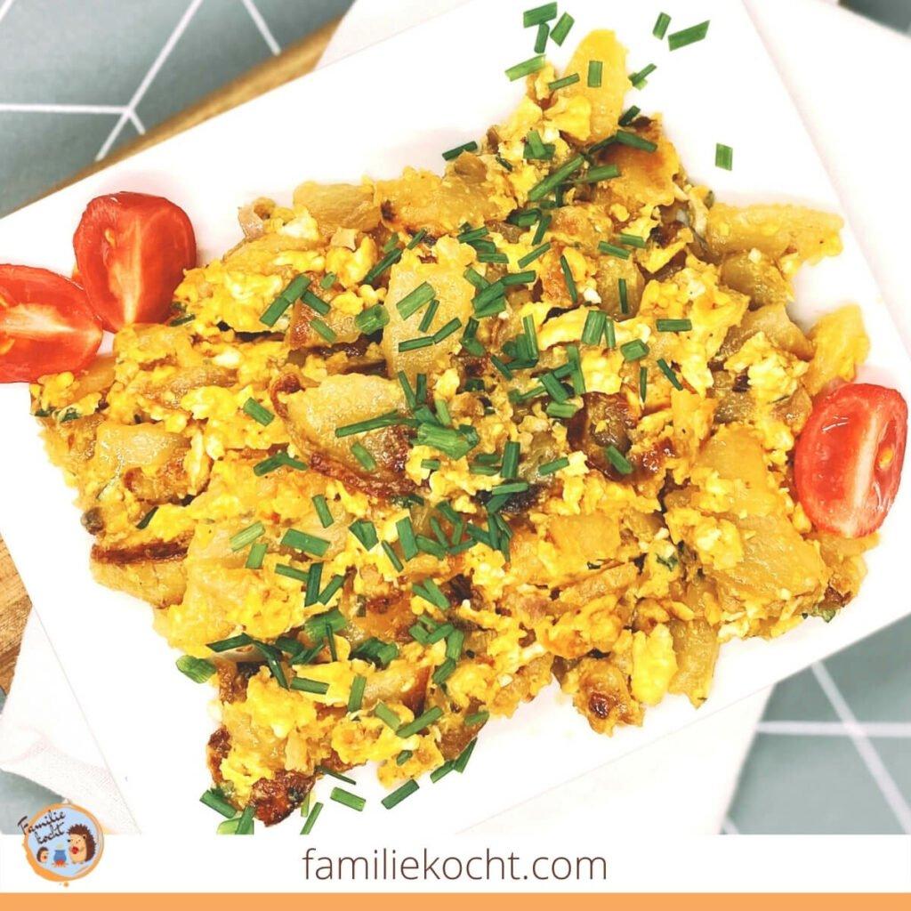 Bratkartoffeln mit Ei Bauernfrühstück