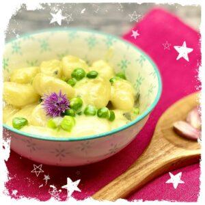 Gnocchi mit Erbsen und Gorgonzolasoße Rezept