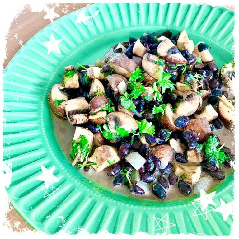 Ayurvedische Champignonpfanne vegan Rezept