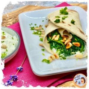 Wraps mit Blattspinat und Gorgonzolacreme Rezept
