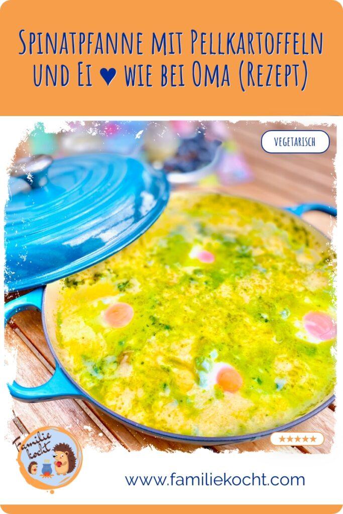 Spinatpfanne mit Pellkartoffeln und Ei ♥ wie bei Oma (Rezept)