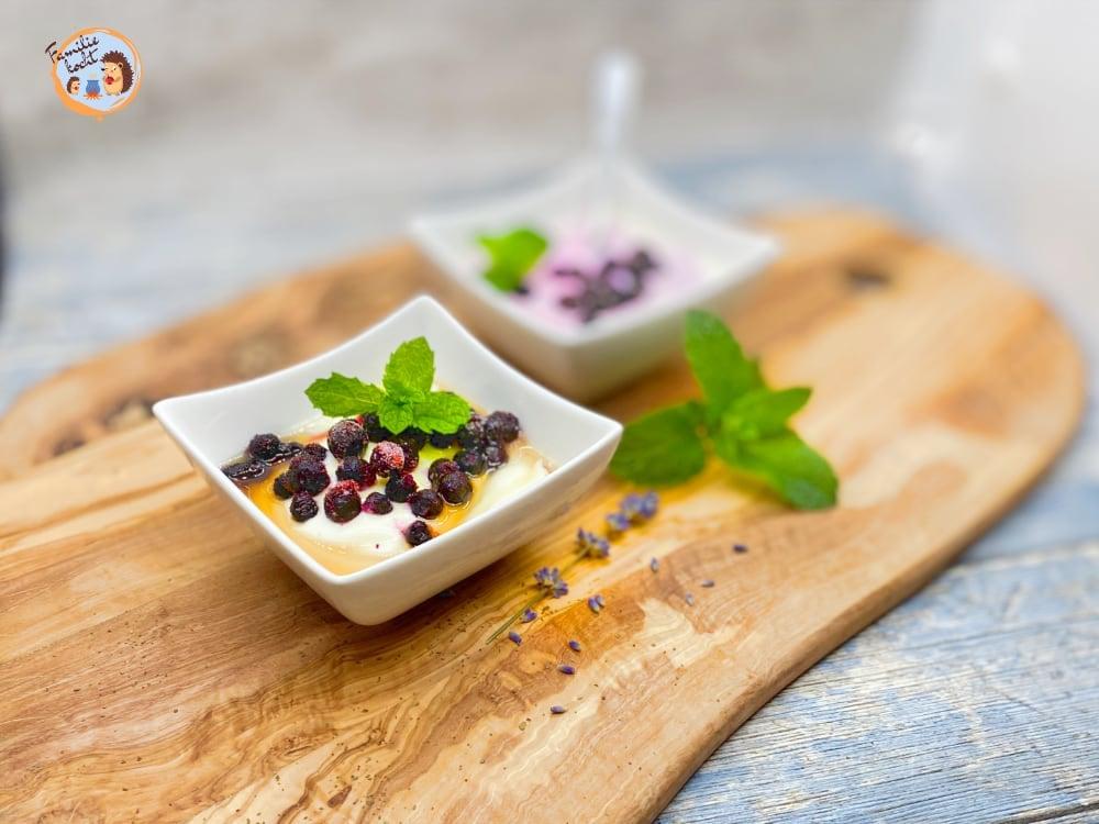 Heidelbeerjoghurt mit Minze aus Naturjoghurt 2