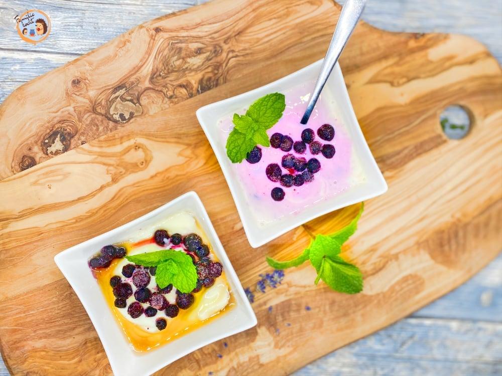 Heidelbeerjoghurt mit Minze aus Naturjoghurt 1
