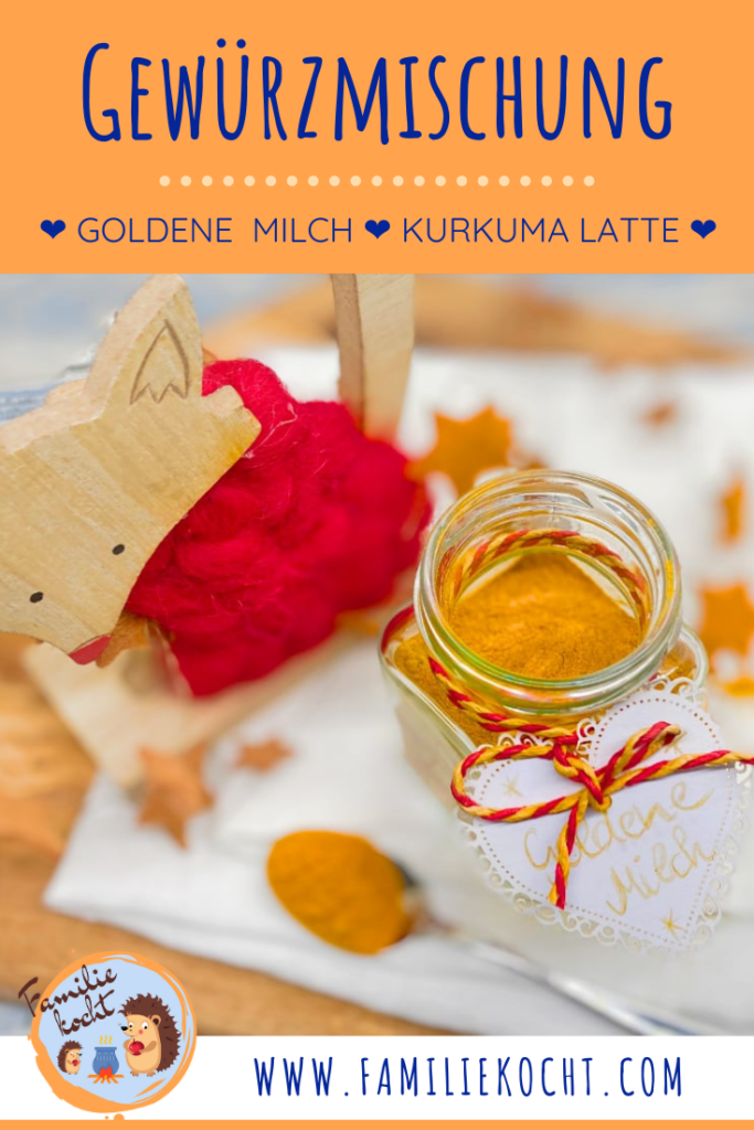 Goldene Milch Kurkuma Latte Gewürzmischung mit Zimt