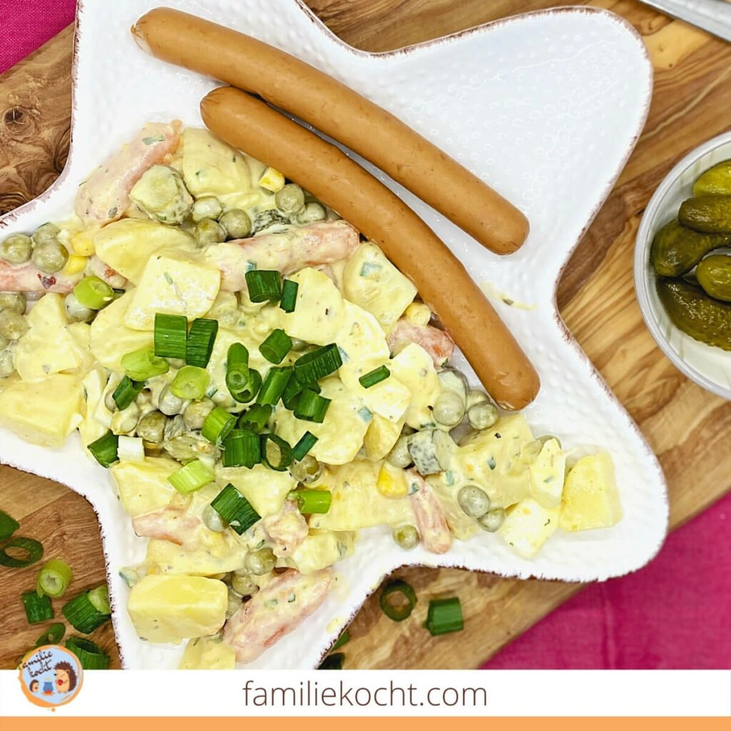 Kartoffelsalat mit Creme Fraiche