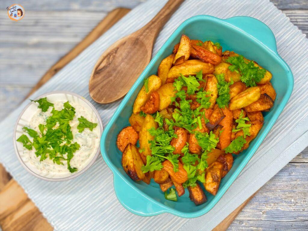 Ofengemüse mit Kräuterquark gesund und lecker