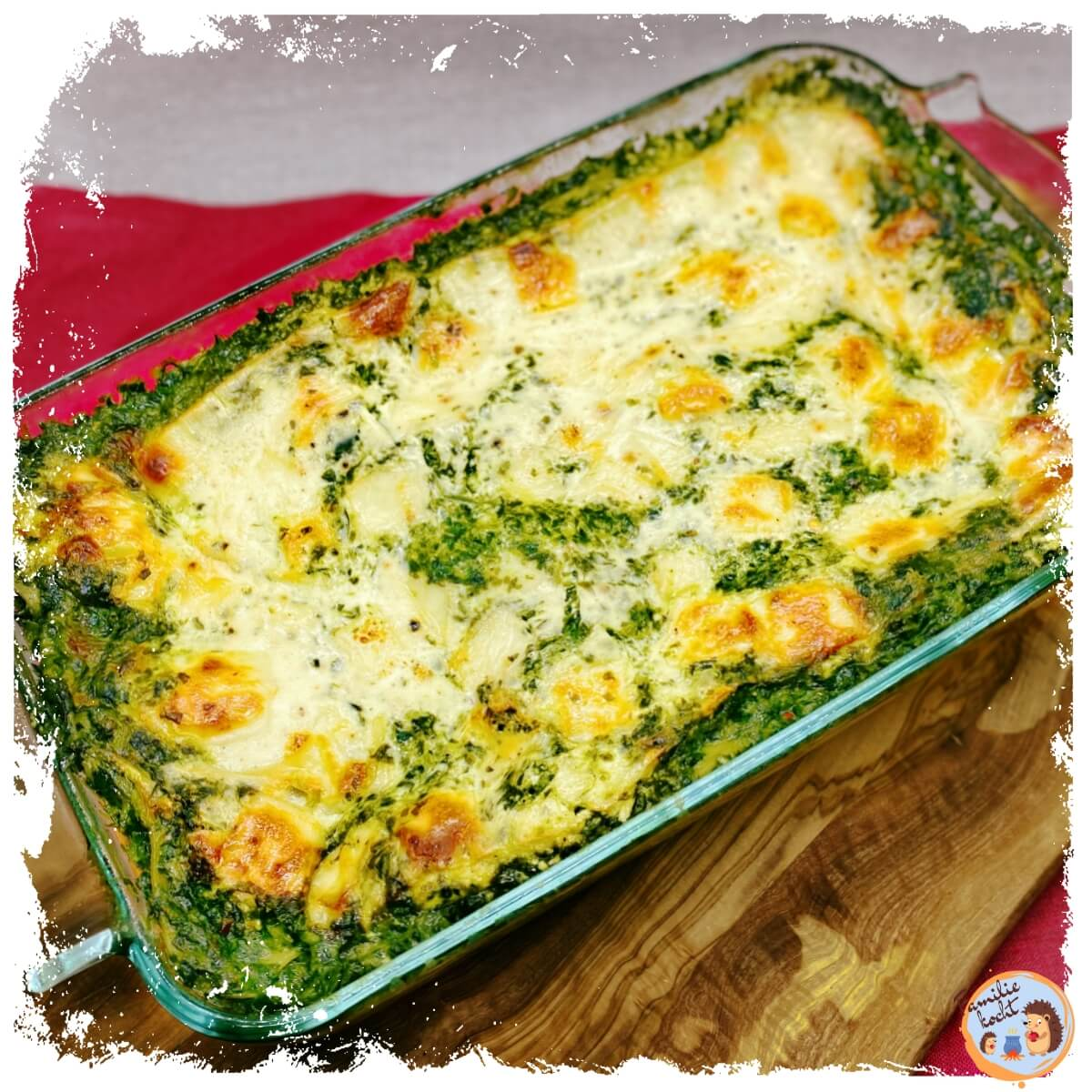 Spinach lasagna with creamed spinach ♨ hearty and delicious!