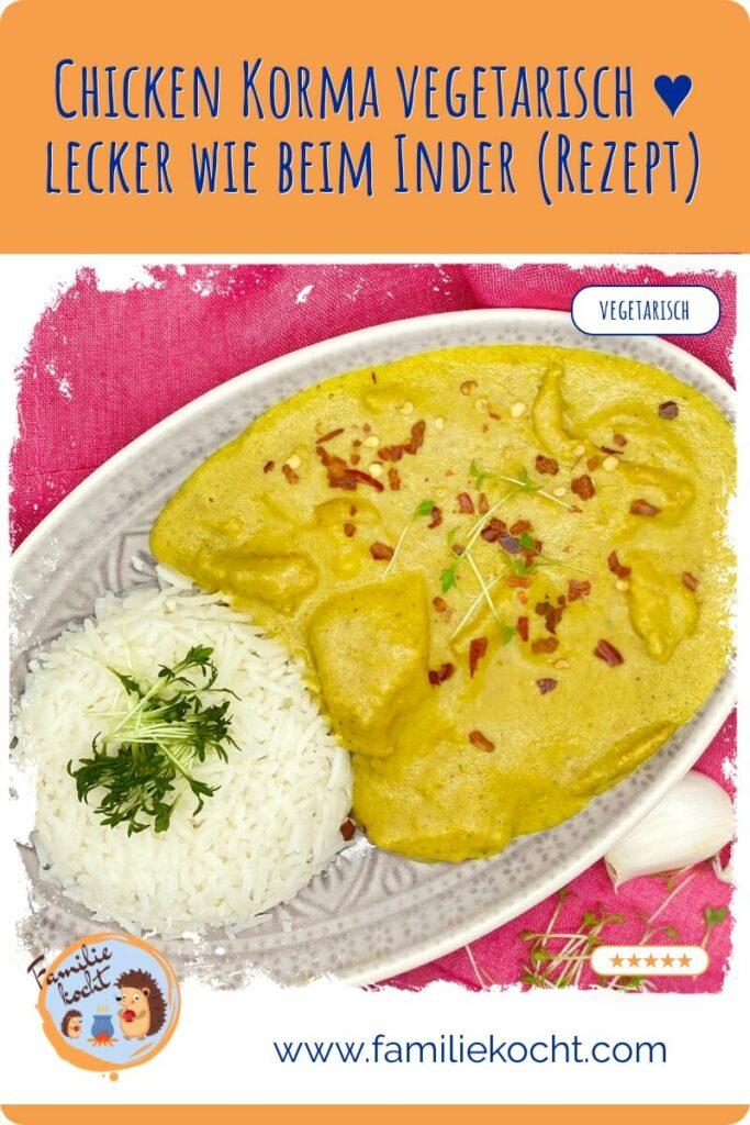Chicken Korma vegetarisch