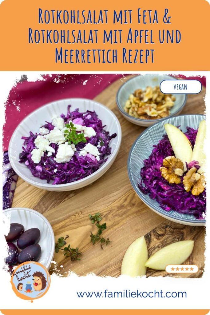 Rotkohlsalat mit Feta & Rotkohlsalat mit Apfel und Meerrettich 1