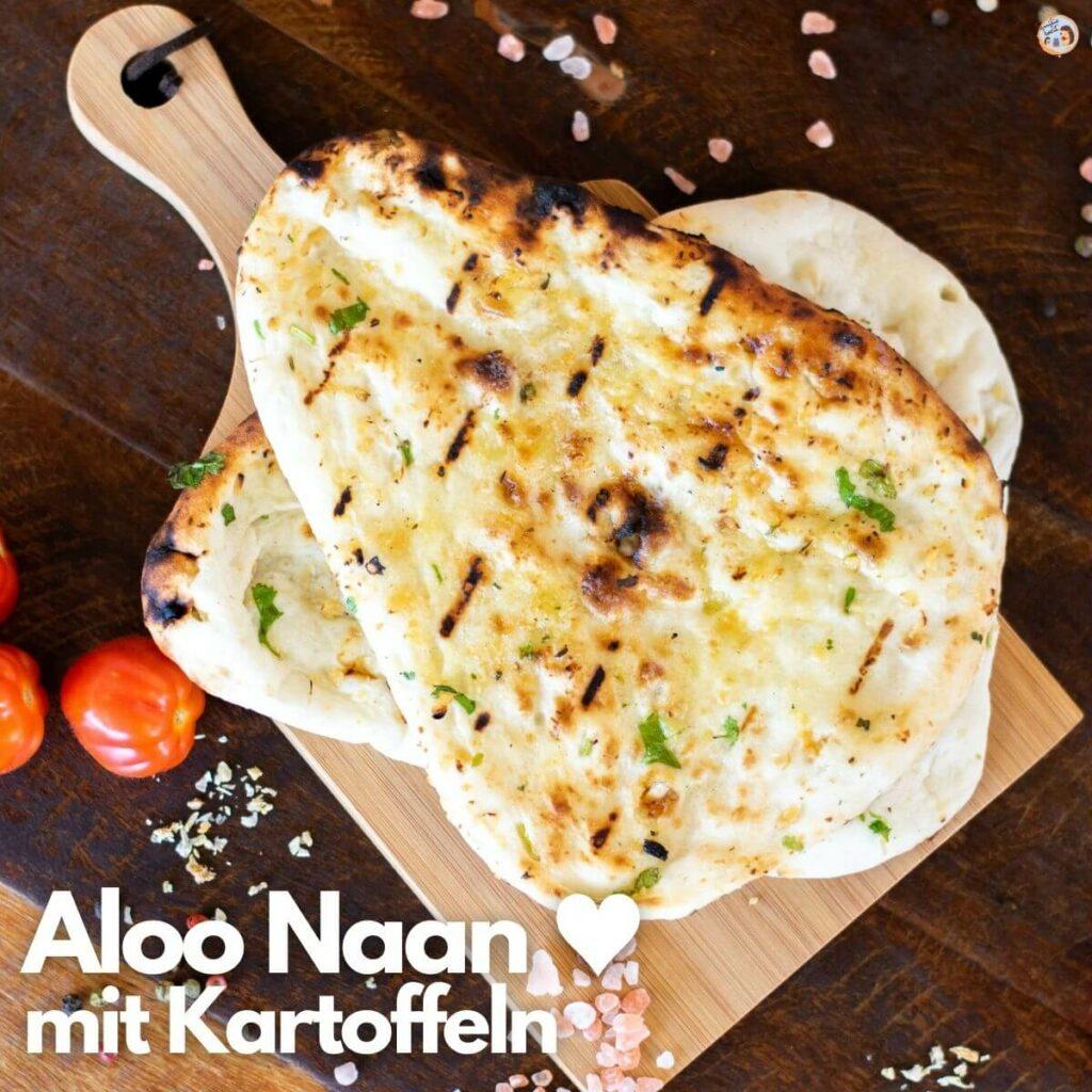 Aloo Naan mit Kartoffeln