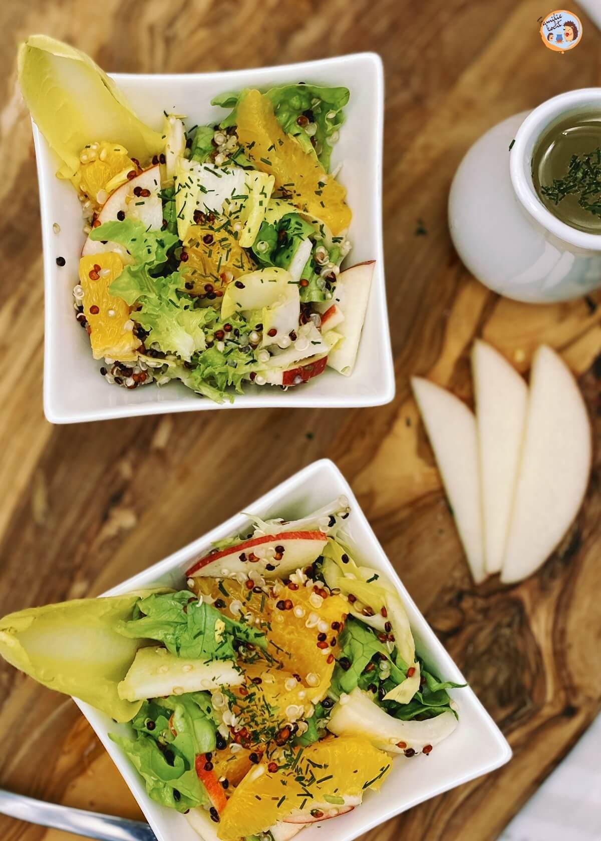 Chicoreesalat mit Apfel und Orange