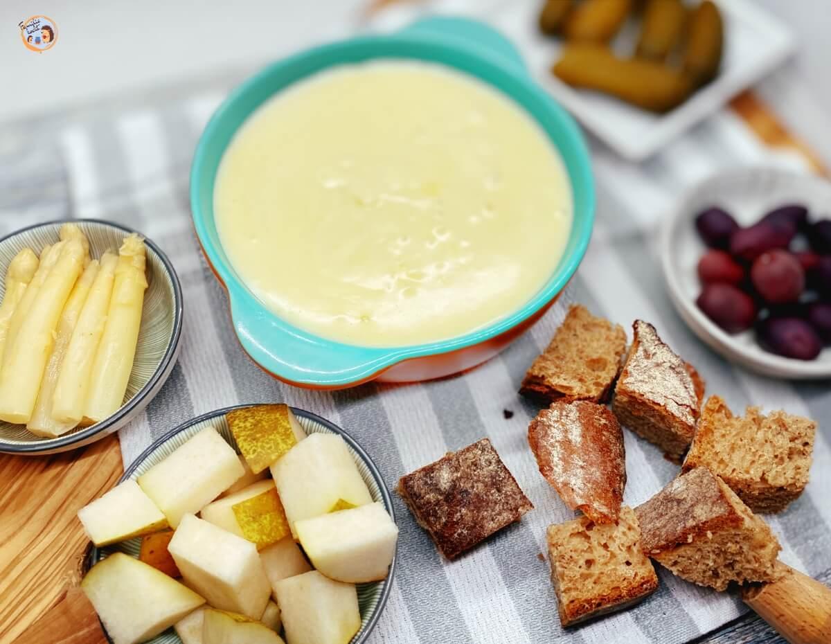 Fondue mit Käse für Kinder