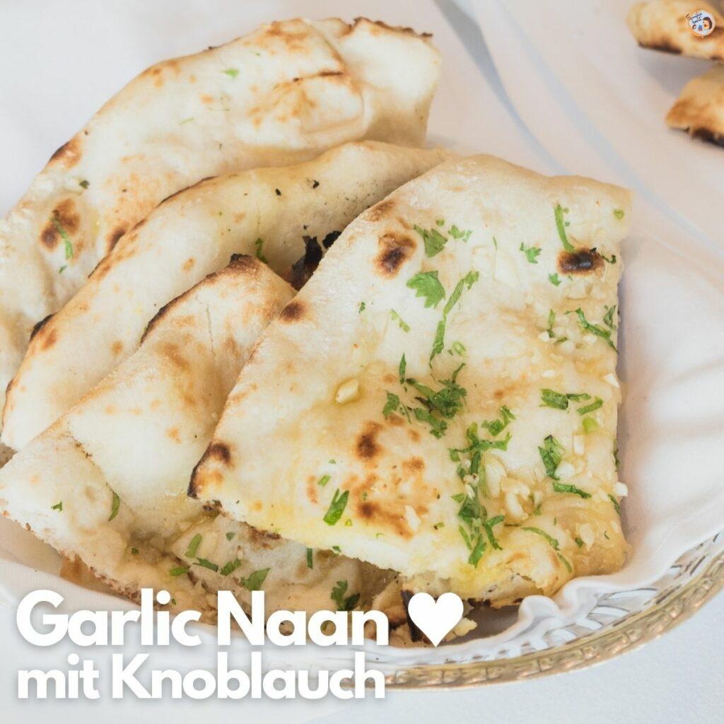 Garlic Naan Brot mit Knoblauch