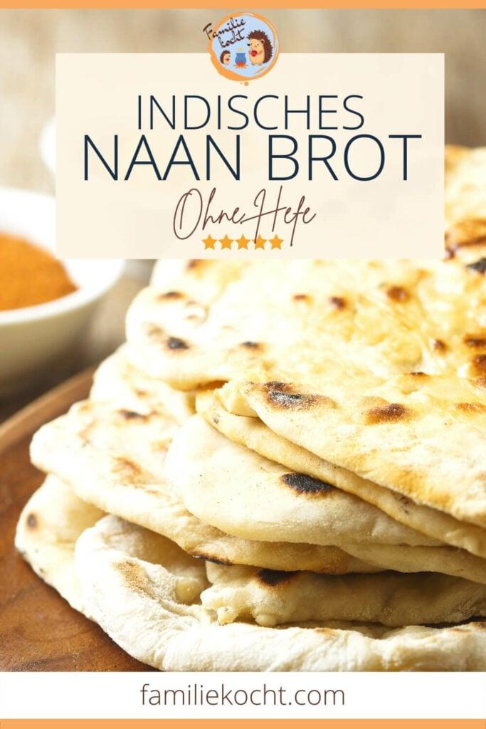 Naan Brot ohne Hefe