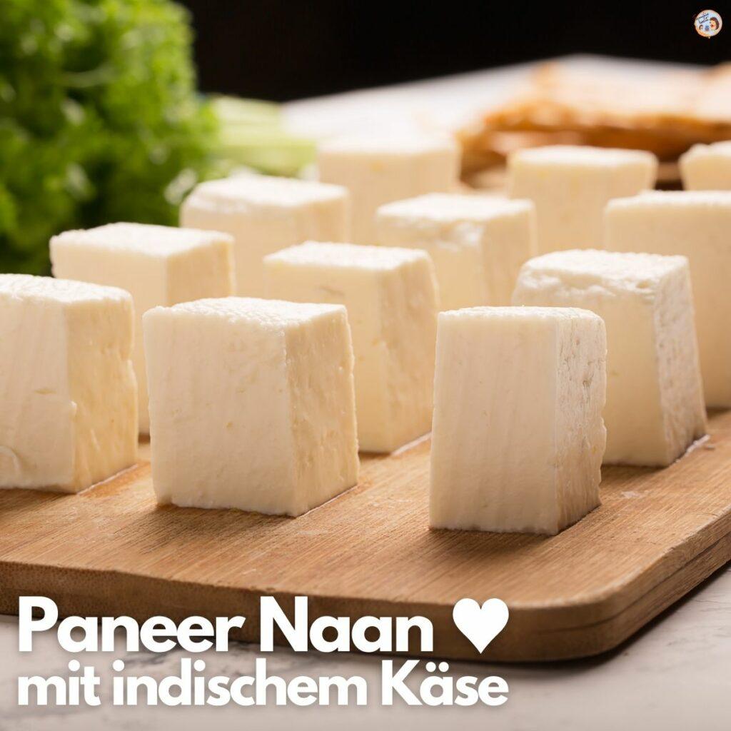 Paneer Naan mit indischem Käse