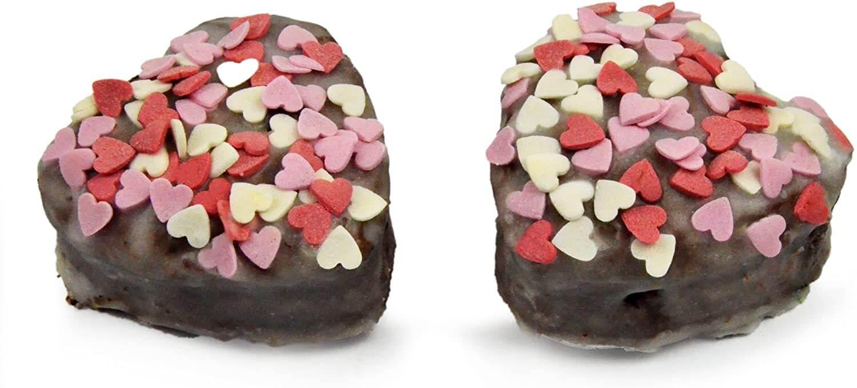 Silikonform mit Herzen groß, Muffinform 3d, Herzbackform Silikon, Backform, Cupcake Formen Herz, 27 x 28,5 x 3,5cm, Cupcake, Farbe: Rot