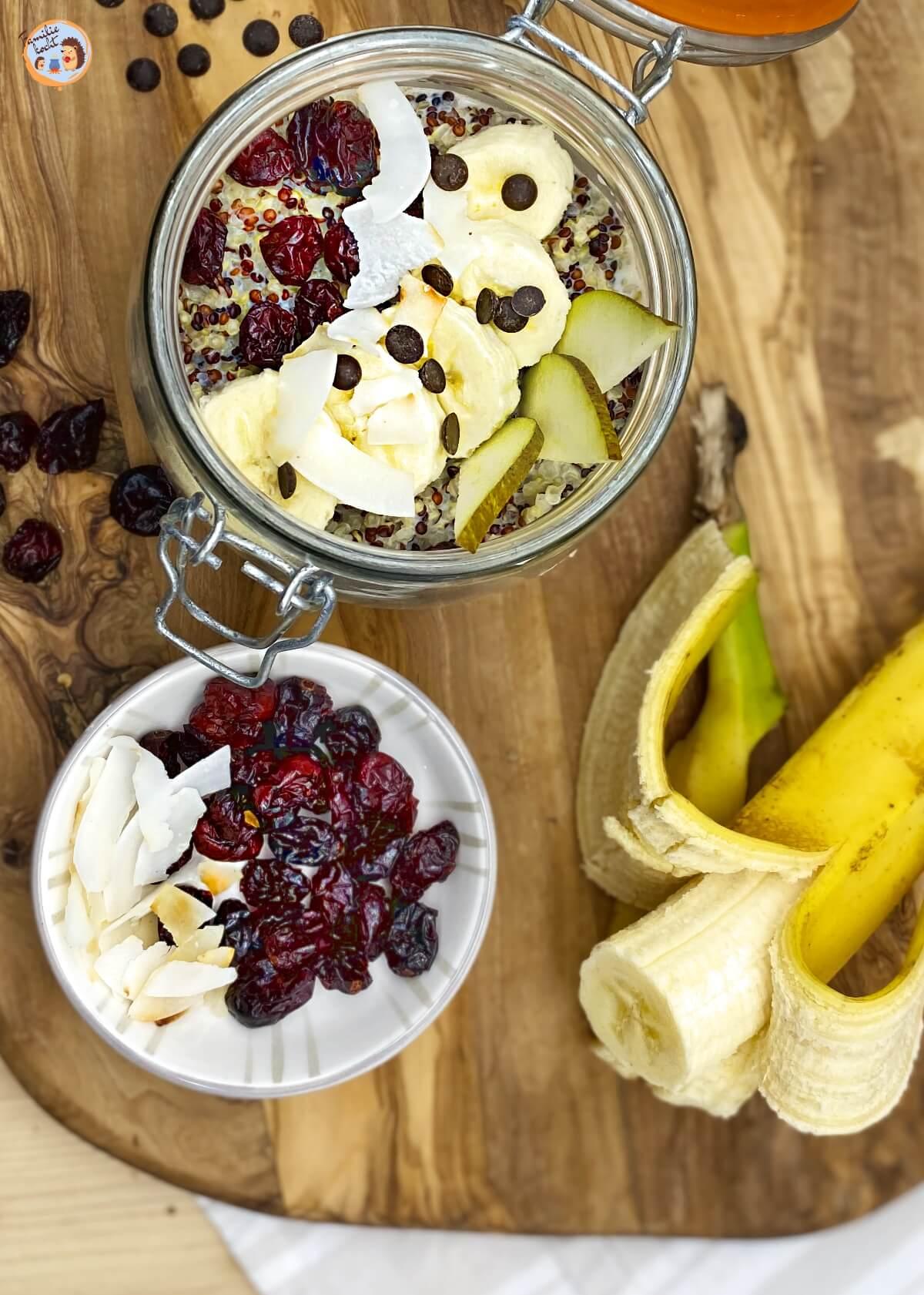 Quinoa Frühstück mit Cranberries 2