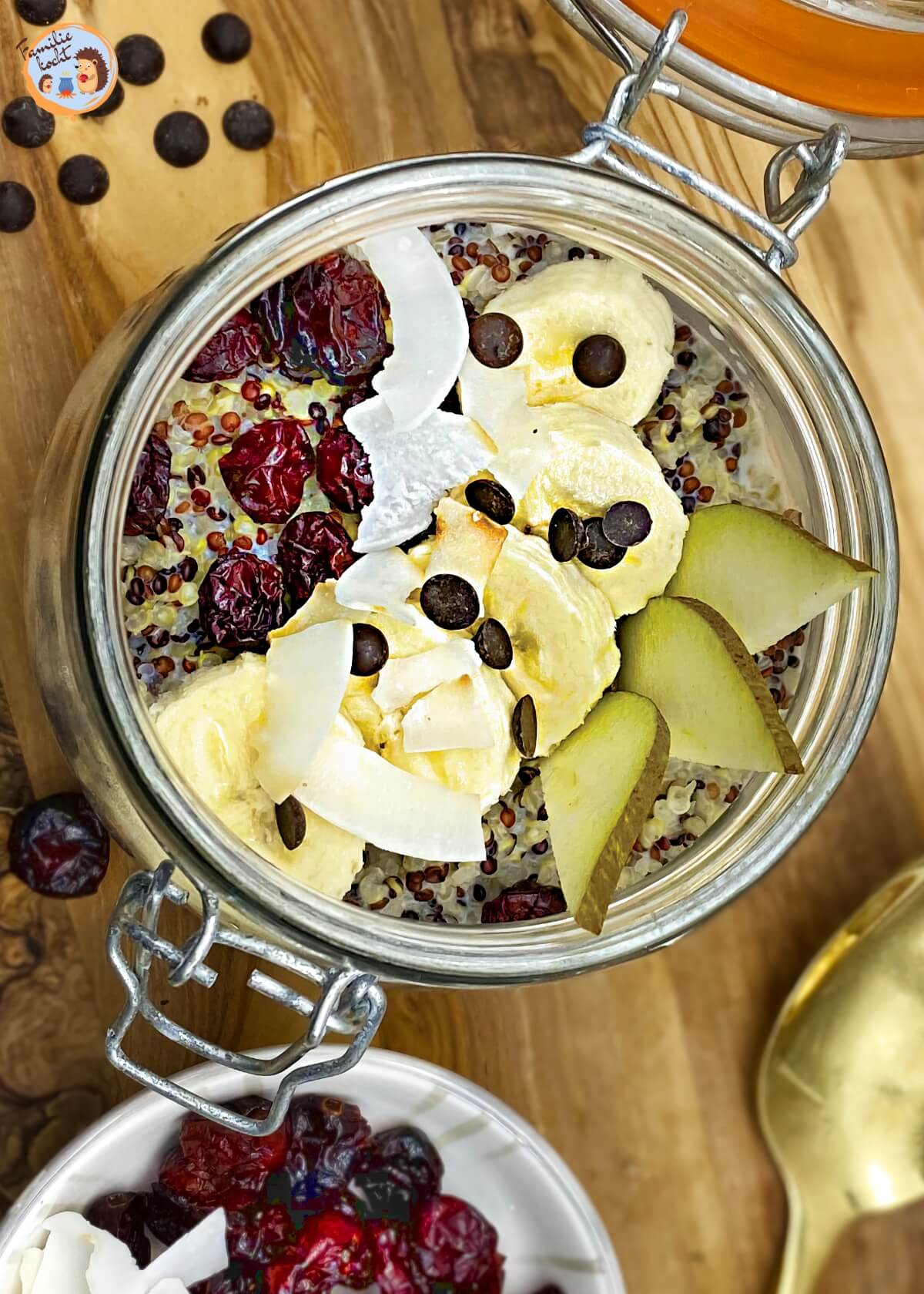 Quinoa Frühstück mit Cranberries 1