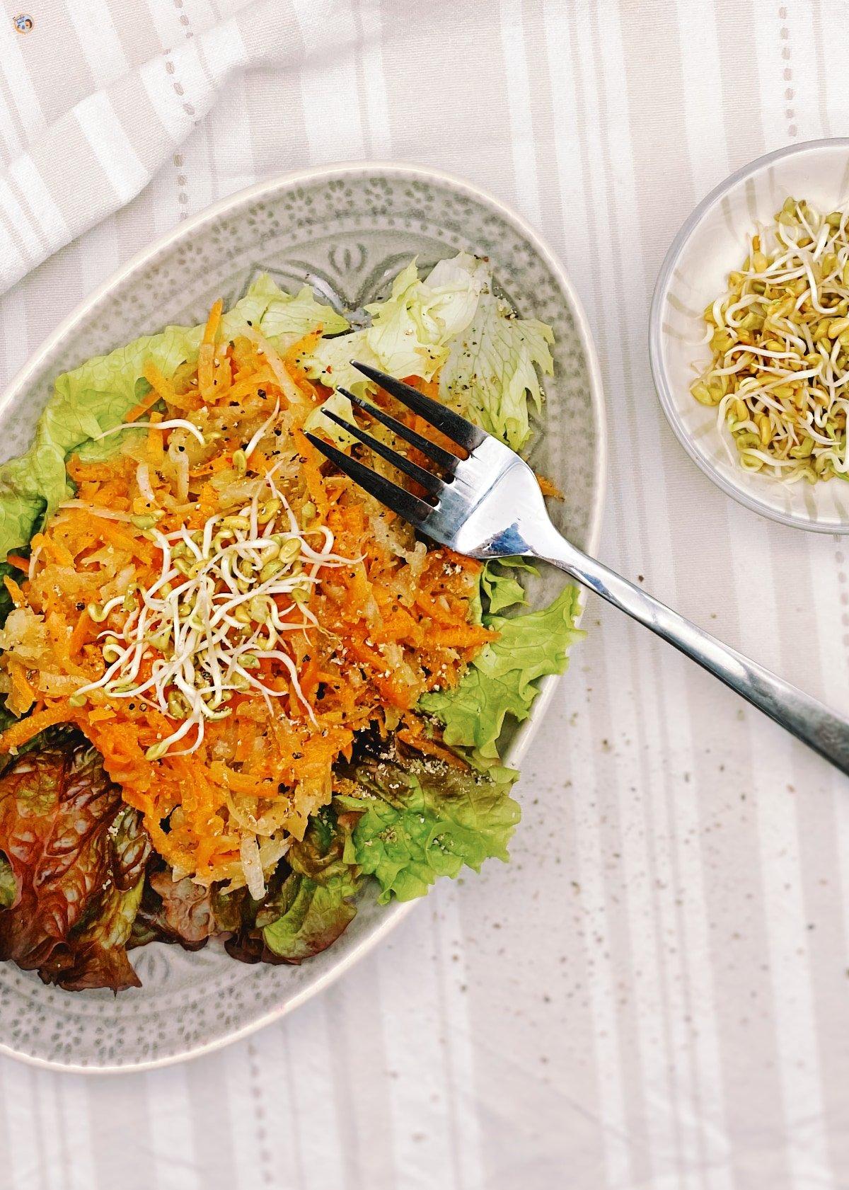 Yacón Salat mit Karotten 2