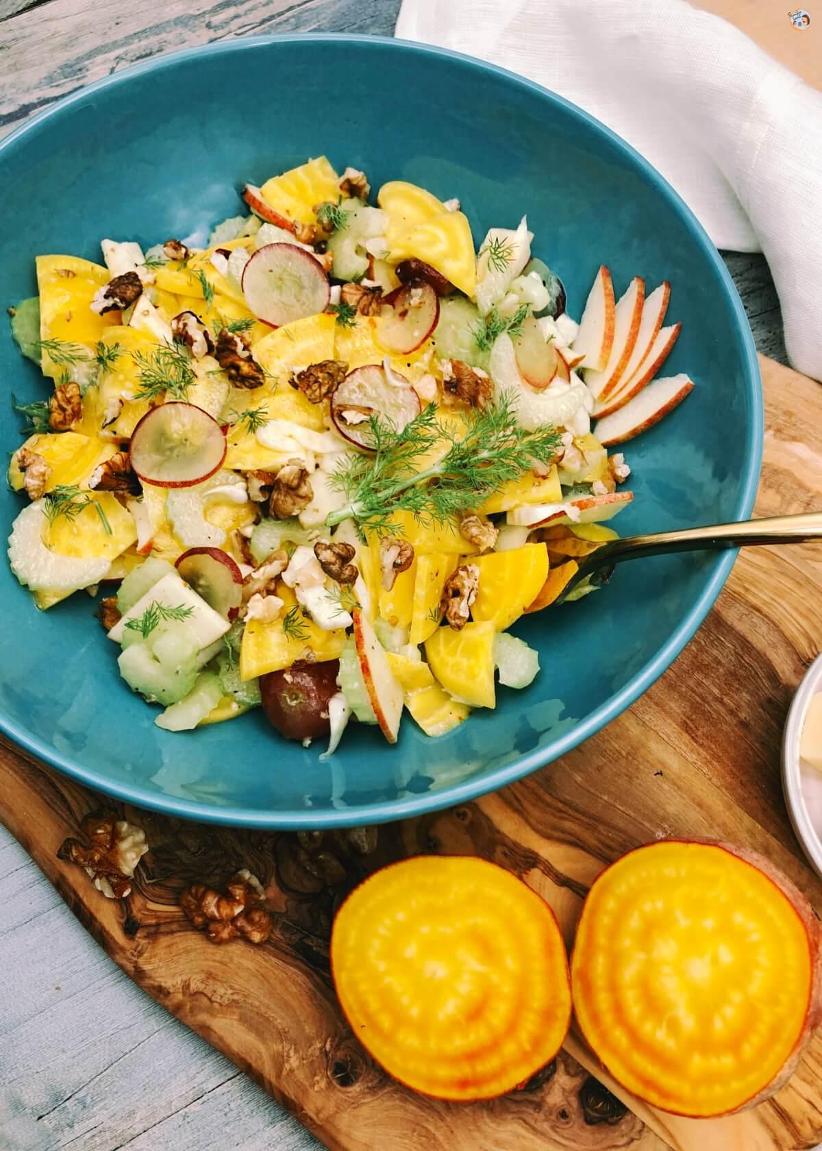 Gelbe Beete Salat