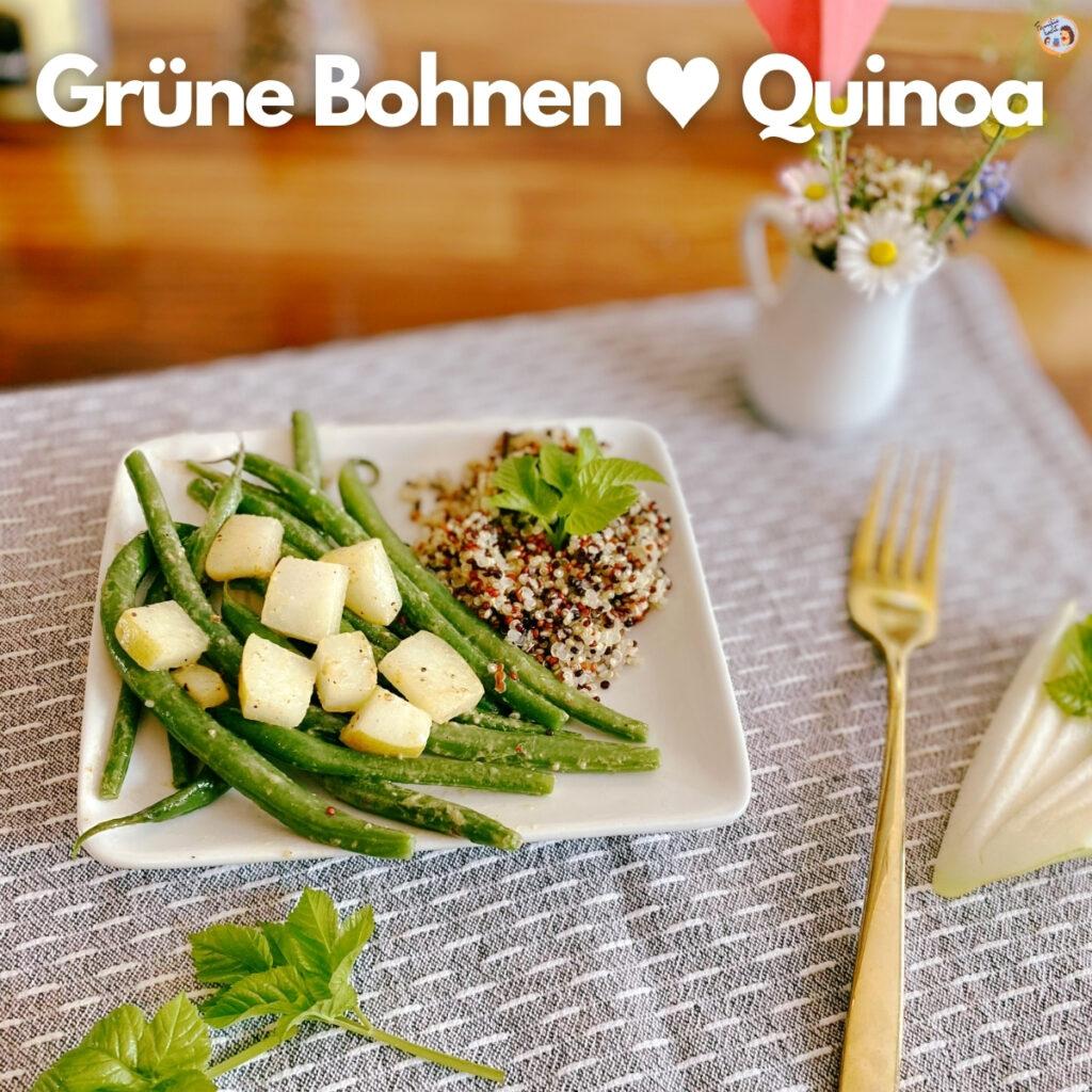 Grüne Bohnen und Quinoa