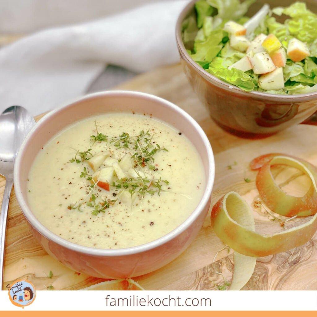 Sellerie Apfel Suppe mit Ingwer