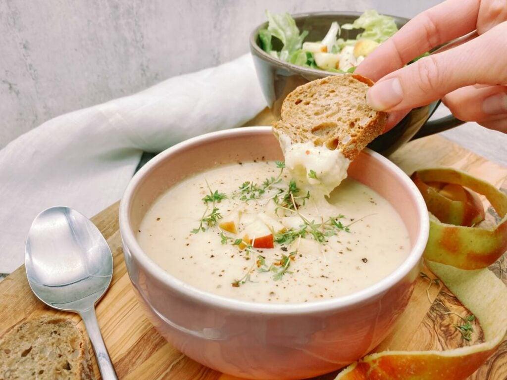 Sellerie Apfel Suppe mit Ingwer 2