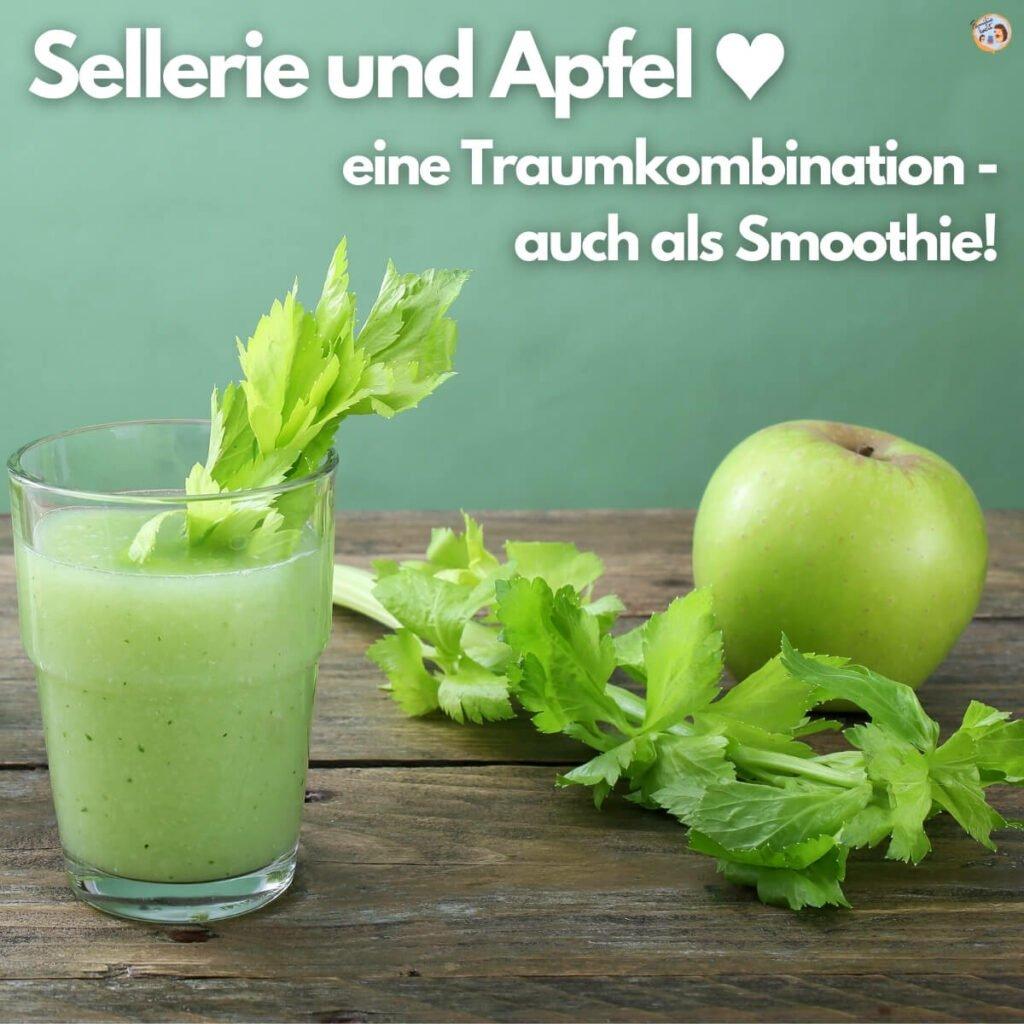 Sellerie und Apfel