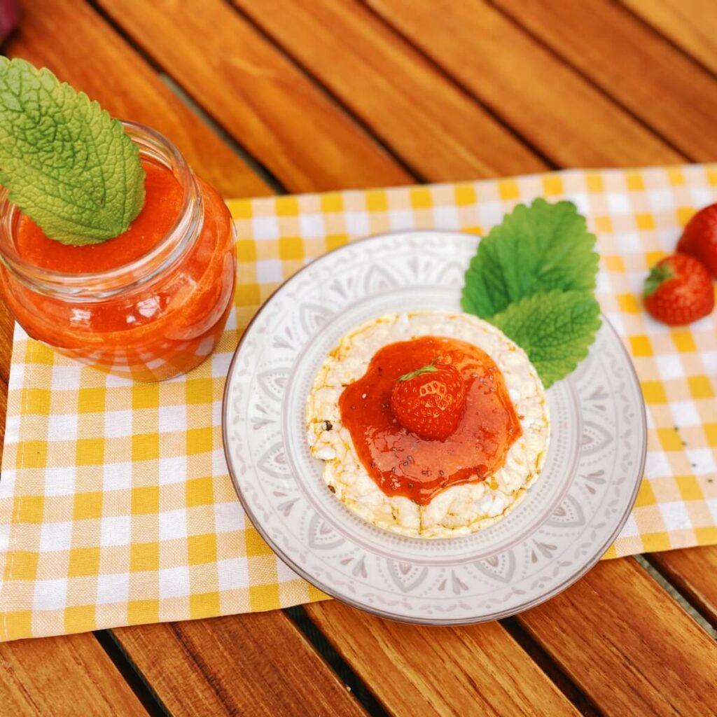 Erdbeermarmelade ohne Kochen