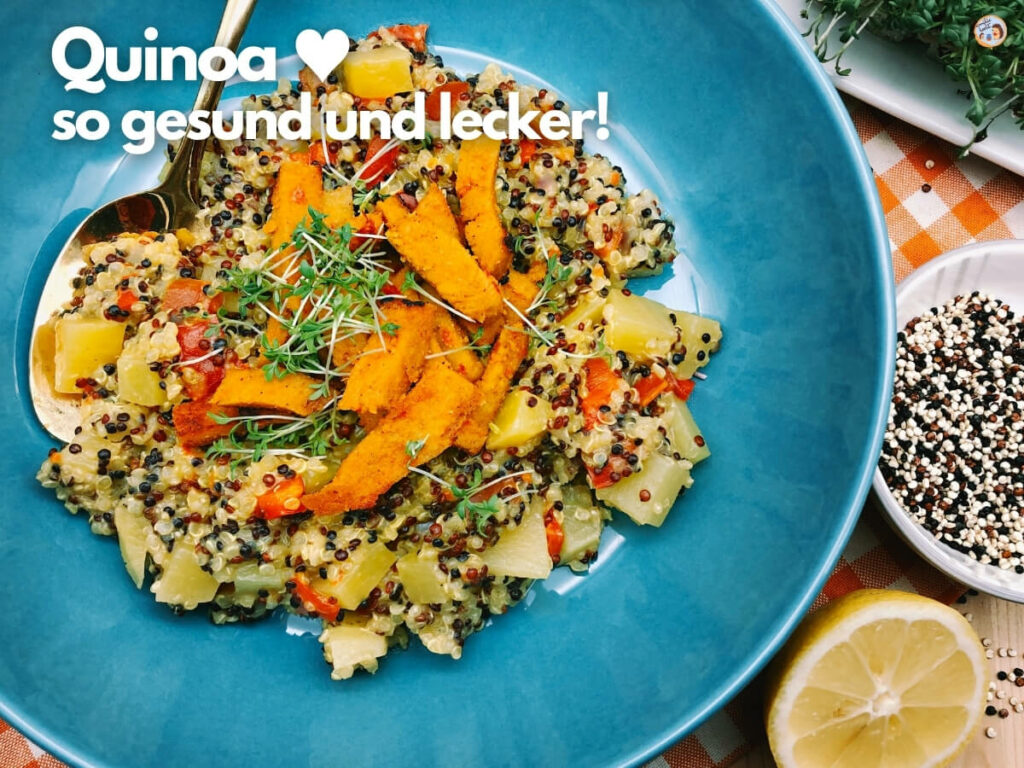 Quinoa mit Veggie Bratstreifen