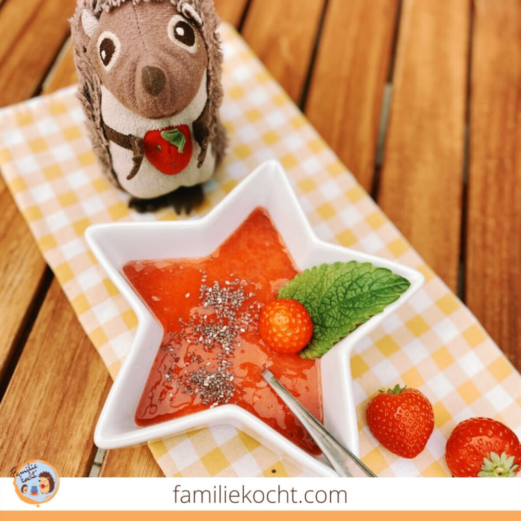 Erdbeermarmelade ohne Kochen und ohne Zucker