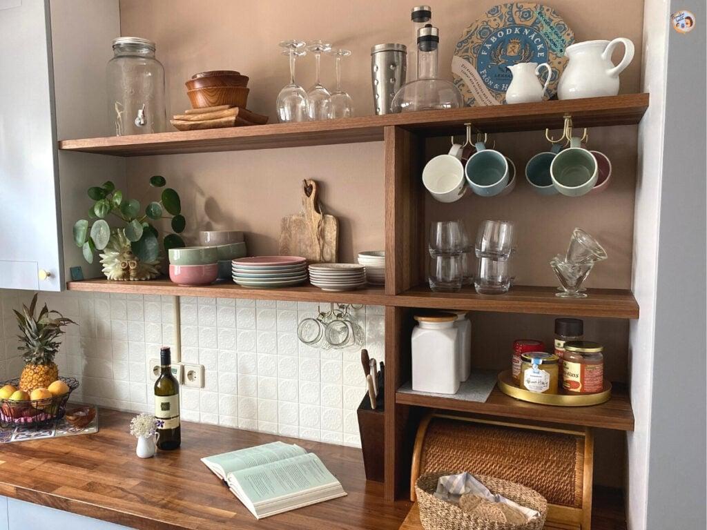 Küche Regal offen