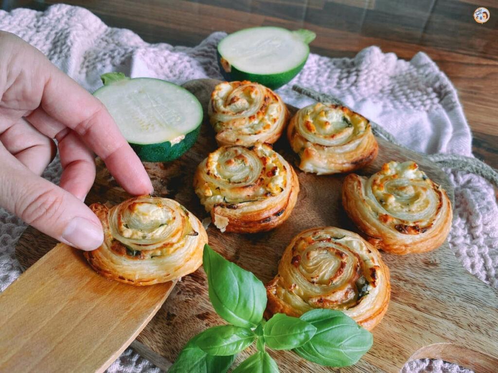 Blätterteig Schnecken vegetarisch
