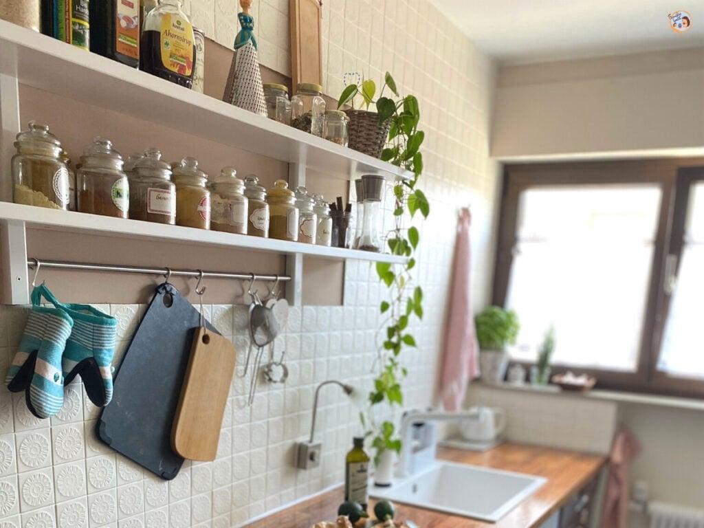 Unser Reihenhaus Küchen Makeover - Küche verschönern mit kleinem Budget 1